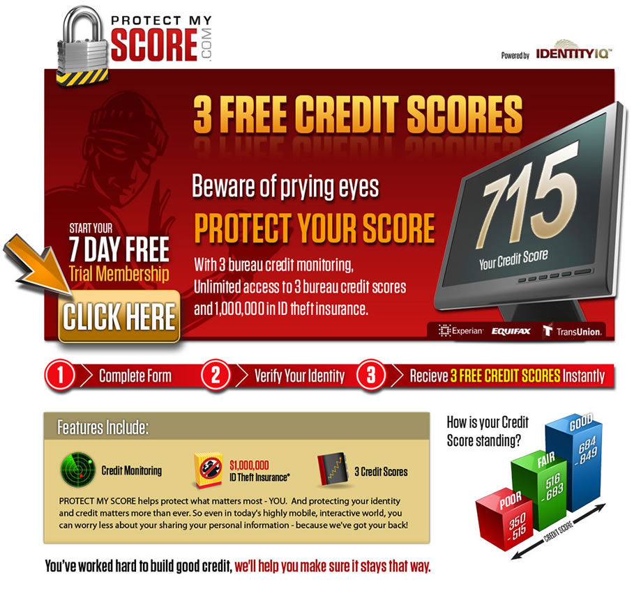 credit report scores online identity protection credit monitoring. Black Bedroom Furniture Sets. Home Design Ideas